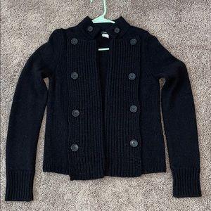 J Crew Black Merino Sweater XS